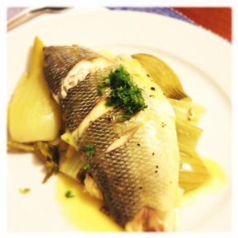 Sea Bass with Roasted Fennel and Beurre Blanc