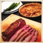 Roasted Sirloin, New Season Asparagus, and Apple Tart