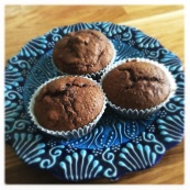Banana, Cocoa and Walnut Muffins