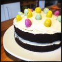 Brixton Brewery Volcano Stout Cake with Cream Cheese Frosting (and Chocolate Easter Eggs)